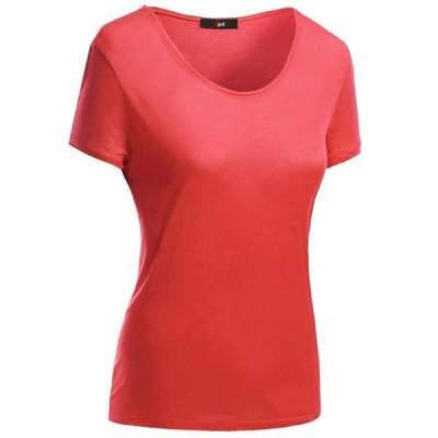 レディース 衣類 トップス FashionOutfit Women's Basic Short Sleeve Scoop Neck Dip Hem T-Shirts ブラウス&シャツ