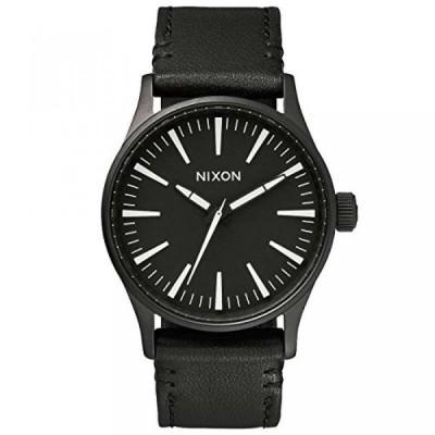 ニクソン 腕時計 メンズウォッチ NIXON SENTRY 38 LEATHER: BLACK / WHITE NA377005-00