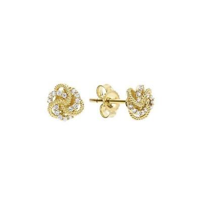 ラゴス レディース ピアス・イヤリング アクセサリー 18K Yellow Gold Love Knot Stud Earrings with Diamonds