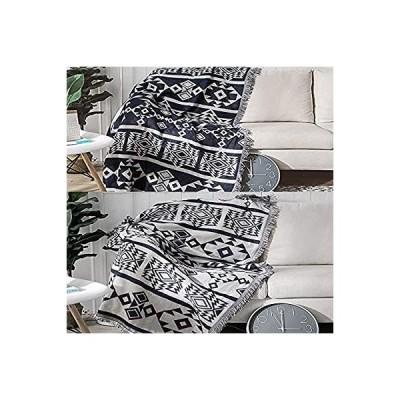 マルチカバー ソファカバー 北欧風 長方形 おしゃれ 多機能 ベッドカバー ブランケットフリンジ付き 1人掛け 2人掛け カウチ ベッドカバー 毛布