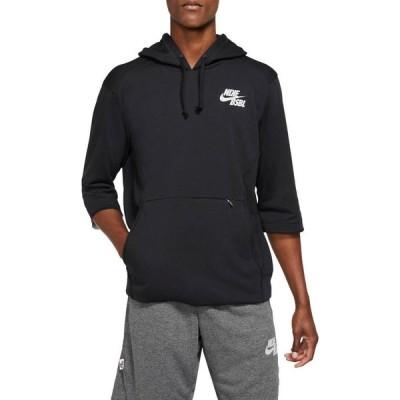 ナイキ メンズ Nike Men's 3/4 Sleeve Pullover Baseball Hoodie パーカー TMBLK/T BLK/TMBLGY/WLFGRY フーディー プルオーバー