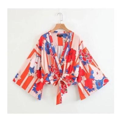 新作レディースファッション春夏カーディガン紫外線UVカットトップス花柄ショート丈欧米風