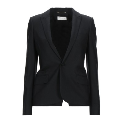 SAINT LAURENT テーラードジャケット ブラック 34 バージンウール 100% テーラードジャケット
