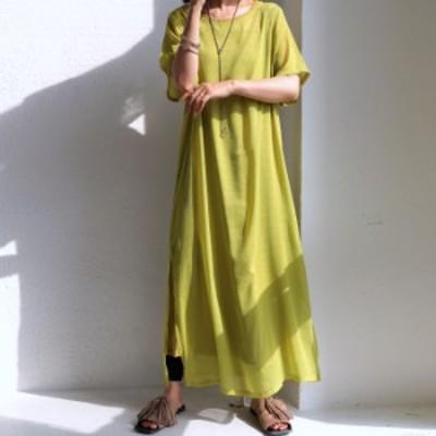 大人にちょうどいい透け感。この1着でレイヤードスタイルが完成。シアーワンピ・再再販。メール便不可