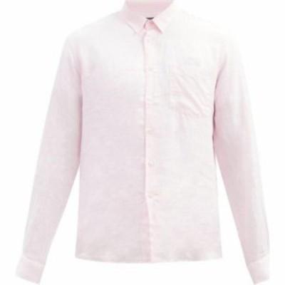 ヴィルブレクイン Vilebrequin メンズ シャツ トップス Caroubis linen shirt Pink