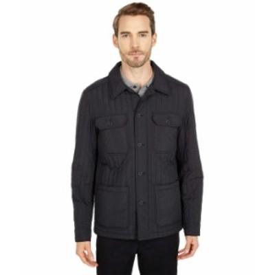 マイケルコース メンズ コート アウター Vertical Quilted Shift Jacket Black
