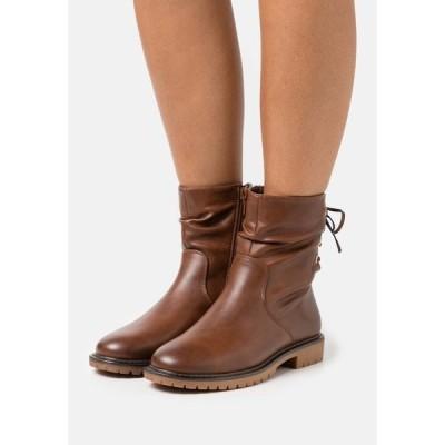 アンナフィールド ブーツ&レインブーツ レディース シューズ Classic ankle boots - cognac