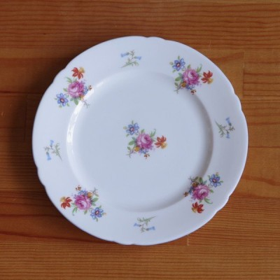イギリス ヴィンテージ アンティーク 食器 SHELLEY シェリー 薔薇 花柄 デザートプレート ケーキ皿 18cm #210126-1~3