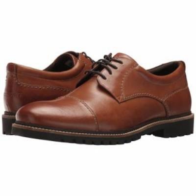 ロックポート 革靴・ビジネスシューズ Marshall Cap Toe Oxford Cognac Leather