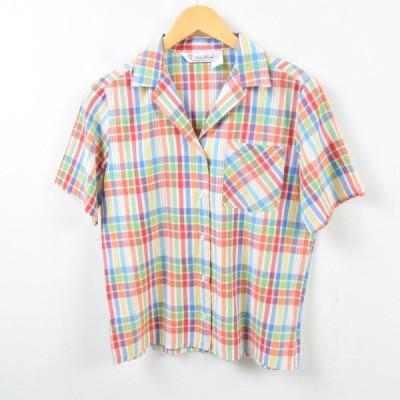 半袖 オープンカラー ポリコットンシャツ レディースM /wbd0781