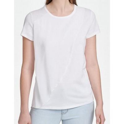 レディース 衣類 トップス Women's Blouse Ultra Small Overlay Contrast T-Shirt S Tシャツ