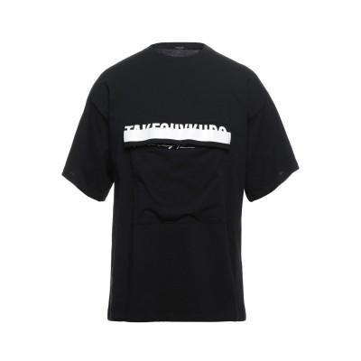 タケシ クロサワ TAKESHY KUROSAWA T シャツ ブラック M コットン 100% T シャツ