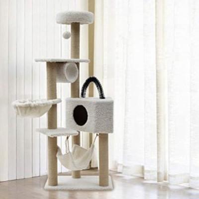 GYZ 多層の猫の木、大型猫登山フレーム、猫のスクラッチボード、猫の高級マ(新古未使用品)