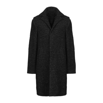 ブライアン デールズ BRIAN DALES コート ブラック 48 ウール 66% / ナイロン 20% / 毛(アルパカ) 7% / ウール 7