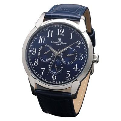 腕時計 メンズウォッチ Salvatore Marra サルバトーレマーラ マルチカレンダー レトロ ウォッチ SM18107-SSBL