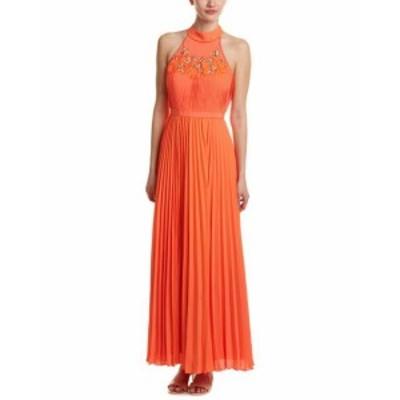 Maxi  ファッション ドレス Karen Millen Embellished Maxi Dress Us 4 / Uk 8 Orange