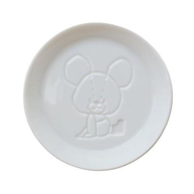 絵柄が浮き出る 醤油皿 くまのがっこう 小皿 おすわり 直径8cm 日本製