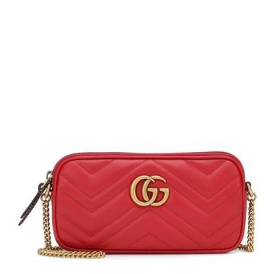 グッチ Gucci レディース ショルダーバッグ カメラバッグ バッグ Gg Marmont Mini Leather Camera Bag Hibiscus Red/Hib.Red