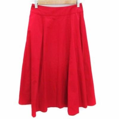 【中古】イエナ スローブ IENA SLOBE スカート フレア ロング丈 36 赤 レッド /FF23 レディース