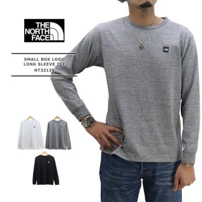 THE NORTH FACE(ザ・ノースフェイス) L/S SMALL BOX LOGO TEE / メンズ L/S スモールボックスロゴ長袖 Tシャツ NT32139
