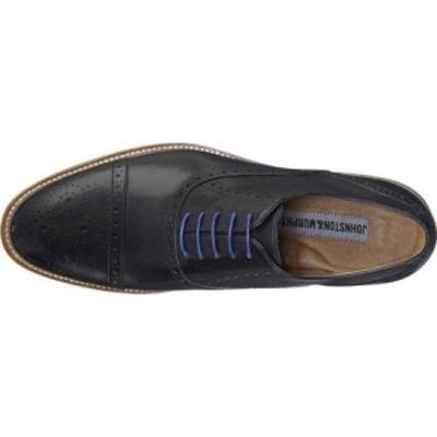 ジョンストンandマーフィー Johnston and Murphy メンズ シューズ・靴 Conard Cap Toe Black Italian Calfskin