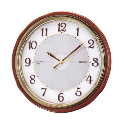 セイコー ソーラー電波掛時計(SF221B) 電波時計/掛け時計