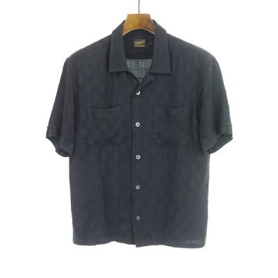 TENDERLOIN テンダーロイン T-RAYON SHT C SHORT オープンカラーレーヨンシャツ ブラック S メンズ