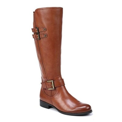 ナチュライザー レディース ブーツ・レインブーツ シューズ Jessie Tall Leather and Buckle Block Heel Riding Boots