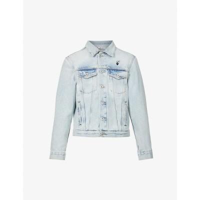オフホワイト OFF-WHITE C/O VIRGIL ABLOH メンズ ジャケット デニムジャケット アウター Mona Lisa graphic-print denim jacket Bleach Bl