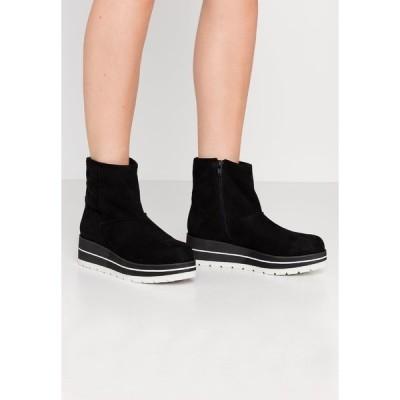 ブルボクサー ブーツ&レインブーツ レディース シューズ Wedge Ankle Boots - black