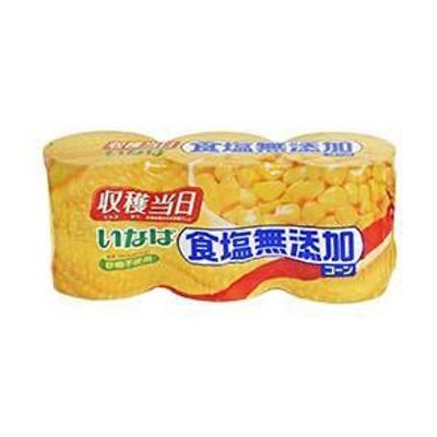 送料無料 いなば食品 食塩無添加コーン 200g×3缶×8個入