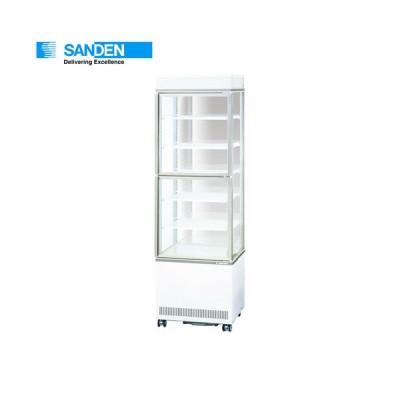 サンデン 三面ガラスショーケース(上下扉で開閉可能) AGV-G3B400XB タテ 冷蔵ショーケース 縦型冷蔵ショーケース