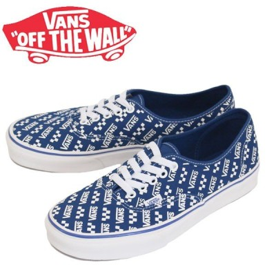 VANS (ヴァンズ バンズ) VN0A2Z5IWH8 Authentic オーセンティック スニーカー (Logo Repeat) True Blue / True White VN190