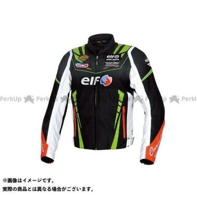 【無料雑誌付き】elf riding wear 2019-2020秋冬モデル EL-9247 ヴィットリアスポルトジャケット(ブラック&グリーン) …
