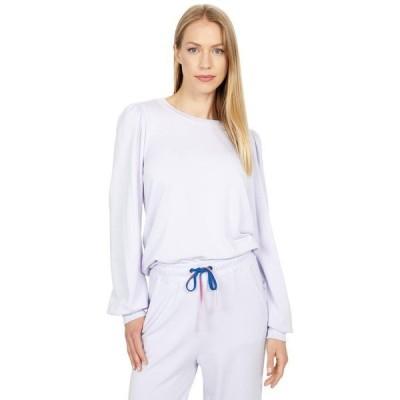 サンドリー レディース パーカー・スウェット アウター Puffy Sleeve Super Soft Viscose Fleece Sweatshirt