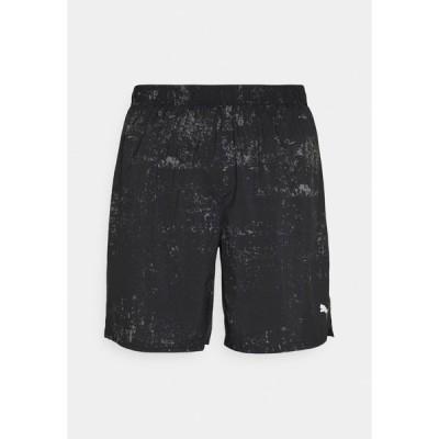 プーマ カジュアルパンツ メンズ ボトムス RUN GRAPHIC  - Sports shorts - black