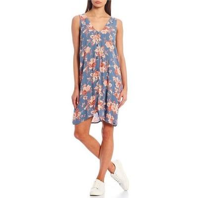 ボルコム レディース ワンピース トップス Forget Yourself Floral Button Front Dress