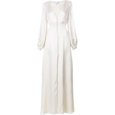 テンパリー・ロンドン TEMPERLEY LONDON ロングワンピース&ドレス アイボリー 8 シルク 100% ロングワンピース&ドレス
