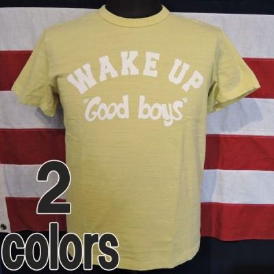 フェローズ 別注スラブ丸胴天竺  WAKE-UP Good boys  プリントシャツ 16S-PST2