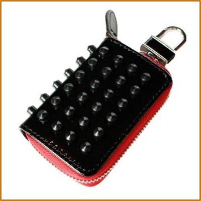 (送料無料)スマートキーケース スパイクスタッズシリーズ ブラック×レッド ASK-SS001 ▼スタッズがおしゃれなスマートキーケース
