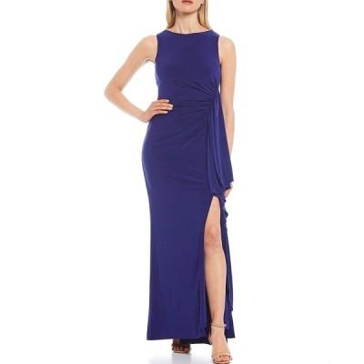 ヴィンスカムート レディース ワンピース トップス Sleeveless Ruffled Skirt Gown Cobalt