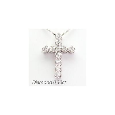 クロス ネックレス レディース ダイヤモンド ゴールド 18k ペンダント 十字架 18金 K18
