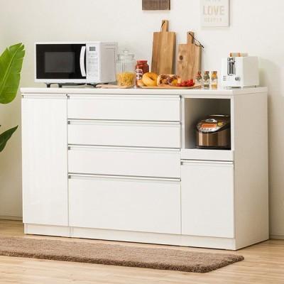 キッチンカウンター(レジューム 150SH-R WH) ニトリ 『配送員設置』 『5年保証』