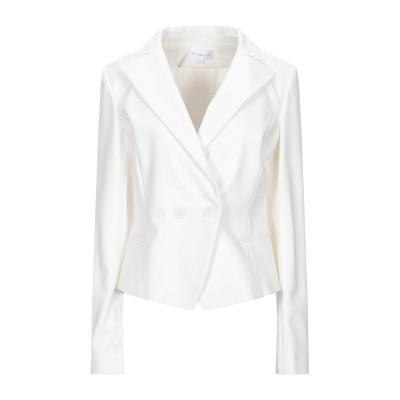 パトリツィア ペペ PATRIZIA PEPE テーラードジャケット ホワイト 40 コットン 48% / ナイロン 45% / ポリウレタン 7%