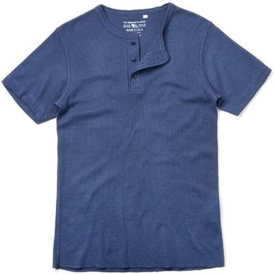 AVIREX アビレックス デイリーウエア 6173314 S/S サーマル ヘンリーネック Tシャツ(S 87 NAVY)