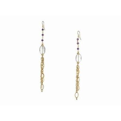 ディー バークレー レディースアクセサリ イヤリング ピアス Gemstone Clear Quartz Dangle Earrings