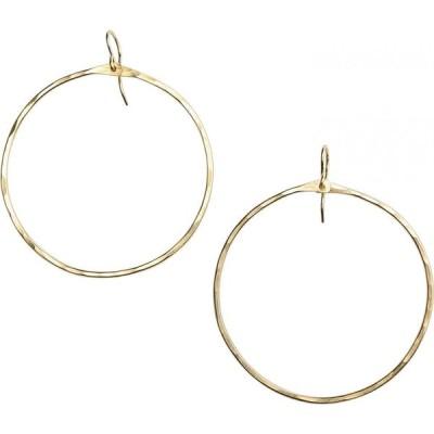 ナシェル NASHELLE レディース イヤリング・ピアス フープピアス ジュエリー・アクセサリー Large Hammered Hoop Earrings Gold