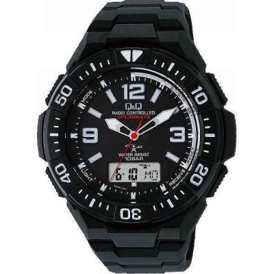 【送料無料】Q&Q ソーラー電源機能付コンビネーション電波腕時計<MD06−305>|MD06−305 ソーラー電源電波時計|(be)