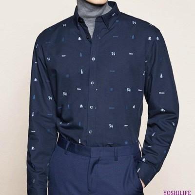 トップス メンズ ワイシャツ Yシャツ 折り襟 長袖 カジュアル フォーマル 厚手 裏地付き 冬 春 暖か 柔らかい アイロン可 インナーシャツ 重
