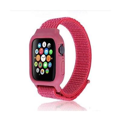 対応 Apple Watch 交換用5/4/3/2/1 新しいナイロン 軽量通気性 iWatch通用ベルト 42mm 44mm ナイロンスポ